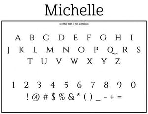 Michelle Personalized Self-inking Round Return Address Design Font