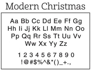 Modern Christmas Rectangle Personalized Self Inking Return Address Stamp font