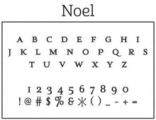 Noel Personalized Self-inking Round Return Address Design Font