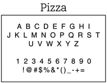 Pizza Personalized Self-inking Round Return Address Stamp Font