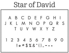 Star of David Personalized Self-inking Round Return Address Stamp Font