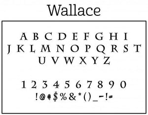 Wallace Round Personalized Self Inking Return Address Stamp font