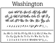 Washington Rectangle Self Inking Return Address Stamp Font