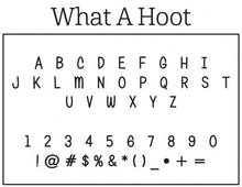 Kelly Hughes What a Hoot Personalized Self-inking Round Return Address Stamp Font
