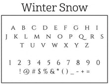 Winter Personalized Self-inking Round Return Address Stamp Font
