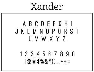 Xander Personalized Self Inking Return Address Stamp Font