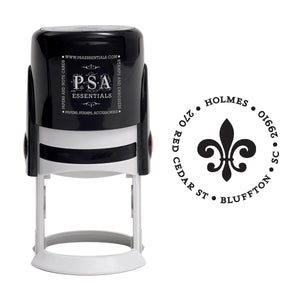 Fleur de Lis Return Address Stamp