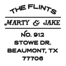 Flint Personalized Self-inking Round Return Address Stamp