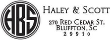 Haley Rectangle Personalized Self Inking Return Address Stamp