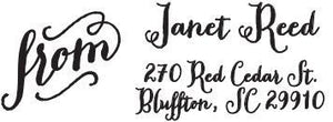 Janet Rectangle Personalized Self Inking Return Address Stamp