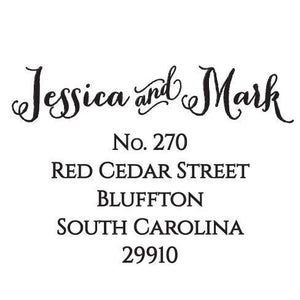 Jessica Personalized Self-inking Round Return Address Stamp on Envelope