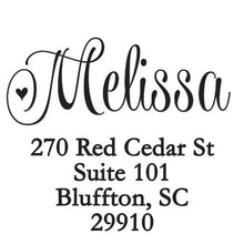 Melissa Personalized Self-inking Round Return Address Design