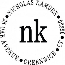 Nicholas Personalized Self-inking Round Return Address Design