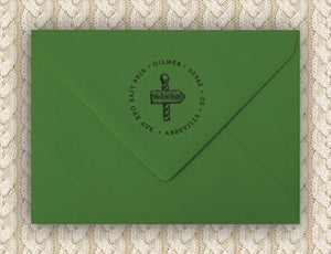 North Personalized Self-inking Round Return Address Design on Envelope