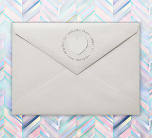Plain Heart Return Address Embosser