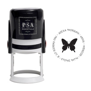 Pretty Butterfly Return Address Stamp