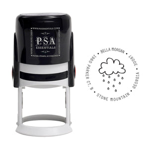 Rain Shower Return Address Stamp
