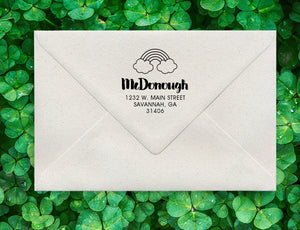 Rainbow Return Address Stamp