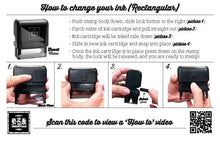 Rectangle Ink Cartridge change instructions