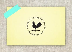 Rooster Personalized Self-inking Round Return Address Design on Note Pad