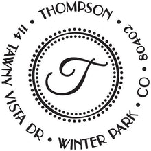 Thompson Personalized Self Inking Return Address Stamp