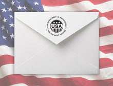Usa Personalized Self-inking Round Return Address Stamp on Envelope