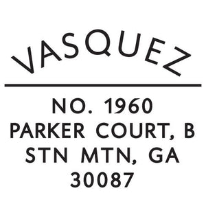 Vasquez Round Personalized Self Inking Return Address Stamp