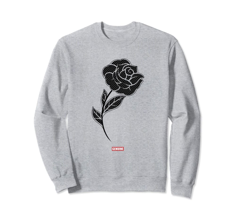 Genuine By Anthony Black Rose Sweatshirt