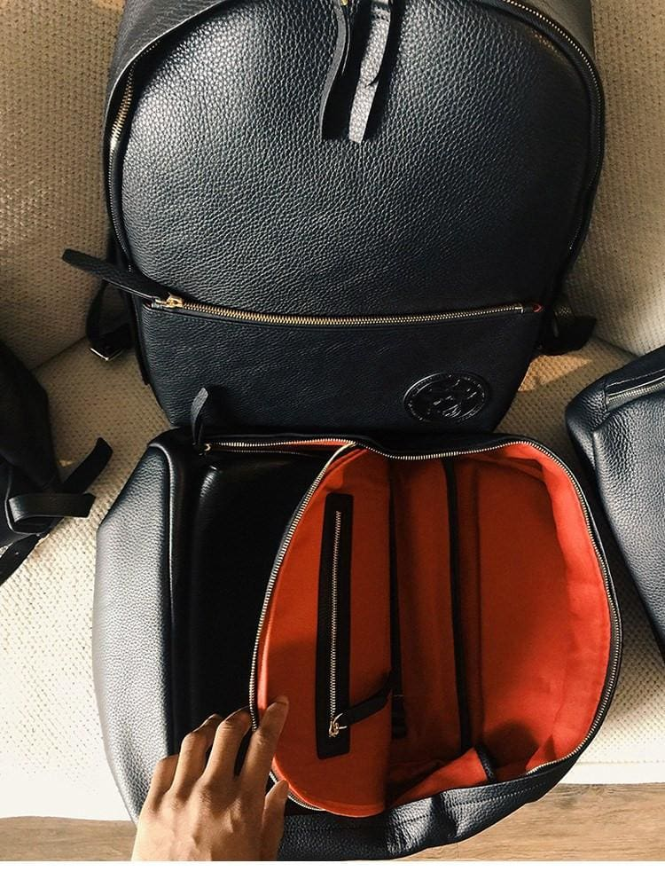Genuine By Anthony Exclusive Premium Black Leather Backpack