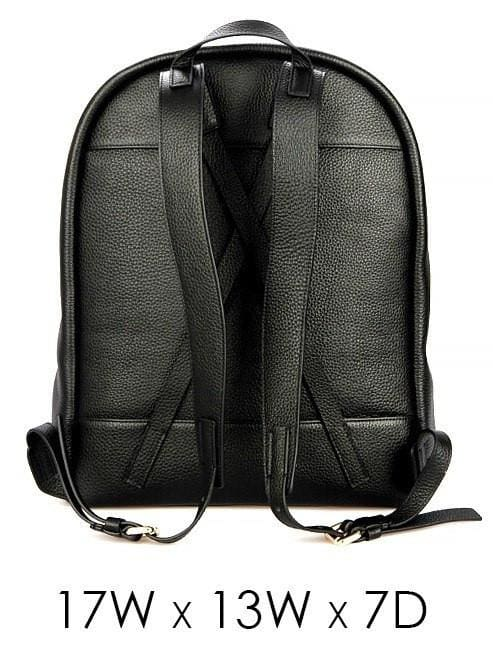 Genuine By Anthony Exclusive Premium Black Leather Backpack - Backpack