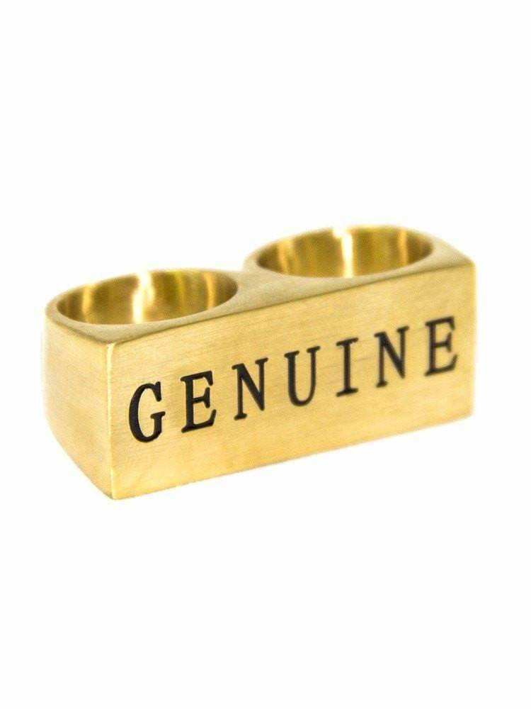 "Genuine By Anthony ""Gold 2 Finger Ring"""