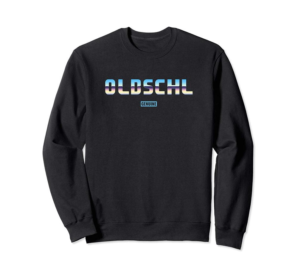 Genuine By Anthony Old School Sweatshirt - Unisex Small / Black - Sweaters