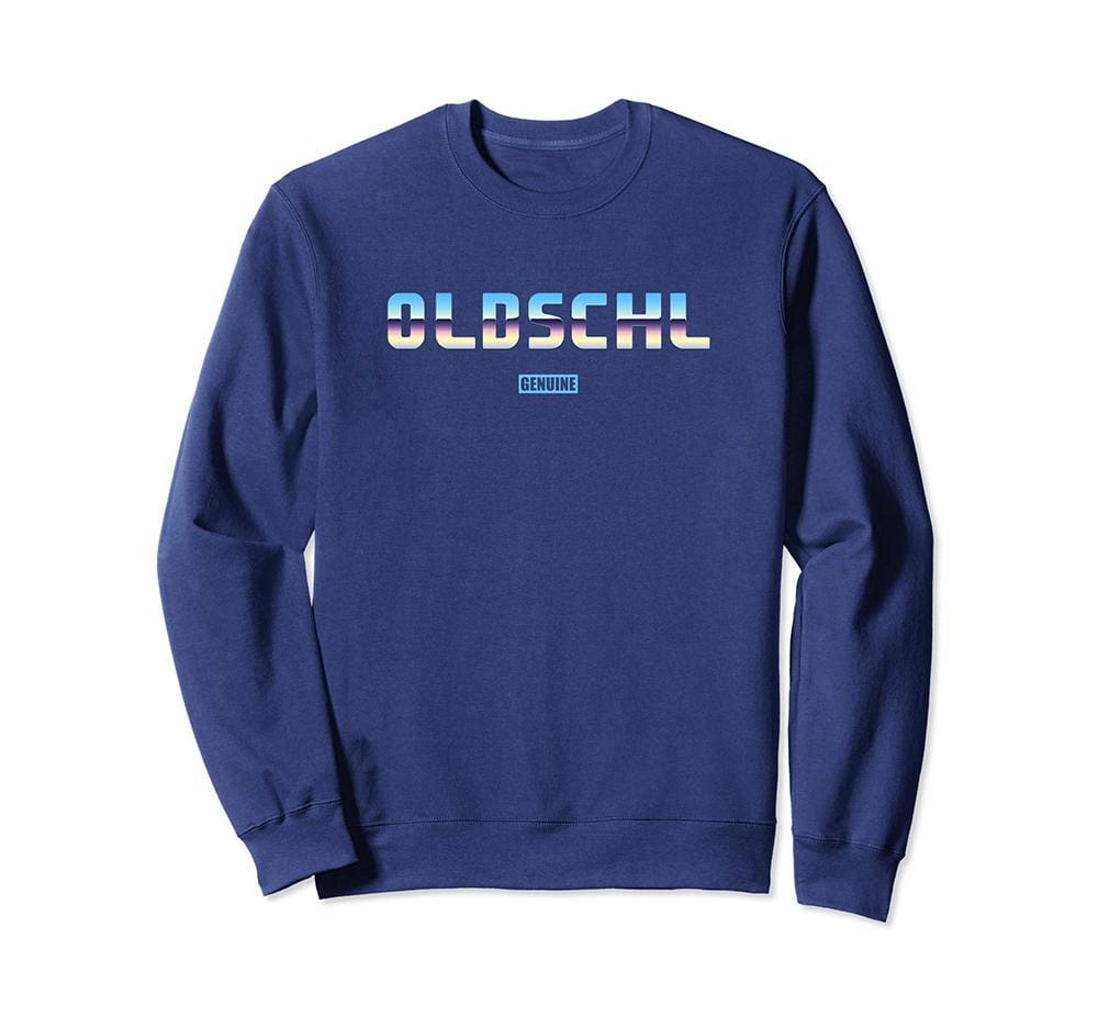 Genuine By Anthony Old School Sweatshirt - Unisex Small / Navy - Sweaters