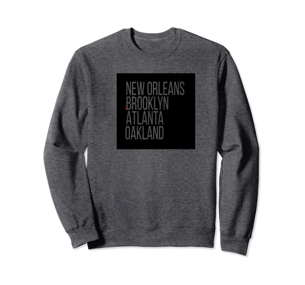 Genuine By Anthony Represent Your City Sweatshirt - Unisex small / Dark Grey - sweaters