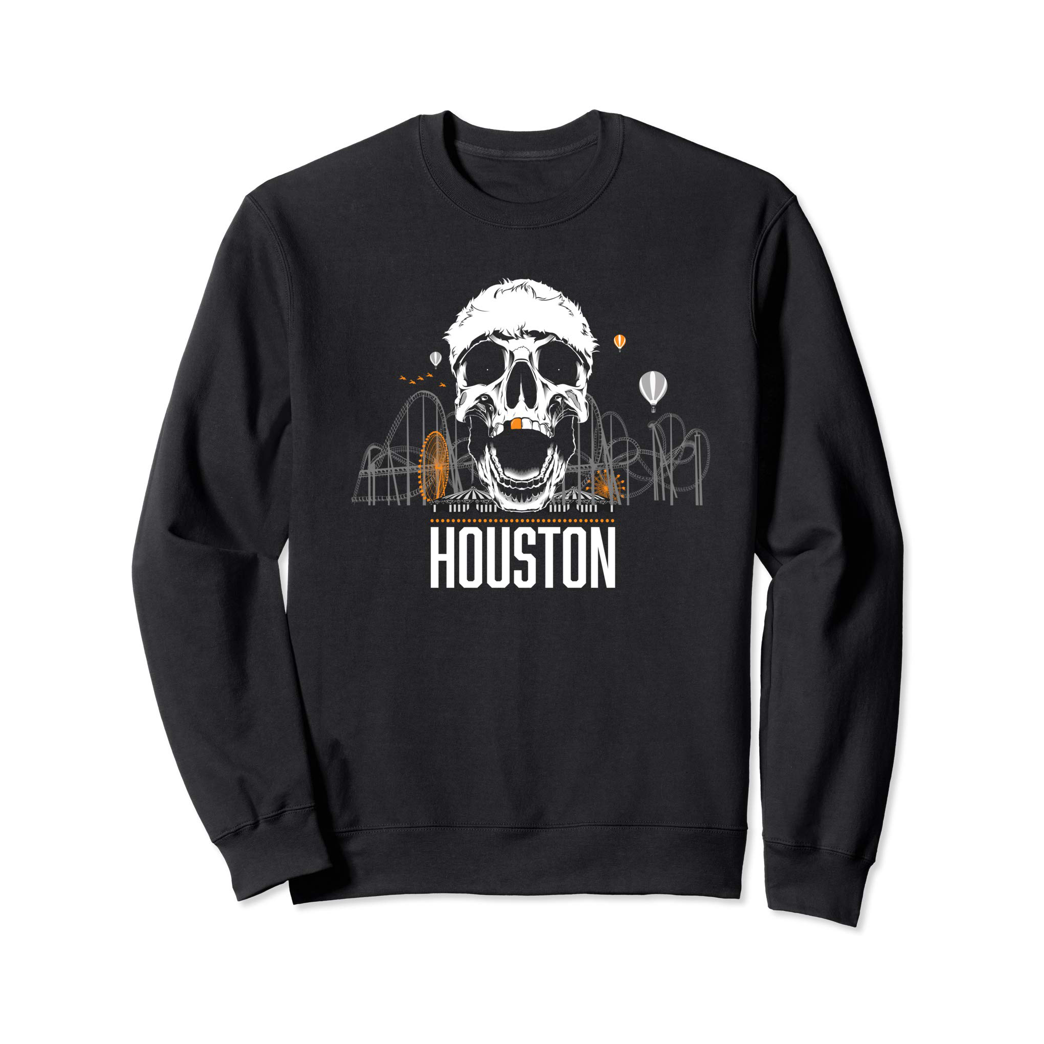 Genuine By Anthony Gold Tooth Houston Skully Sweatshirt - Genuine By Anthony
