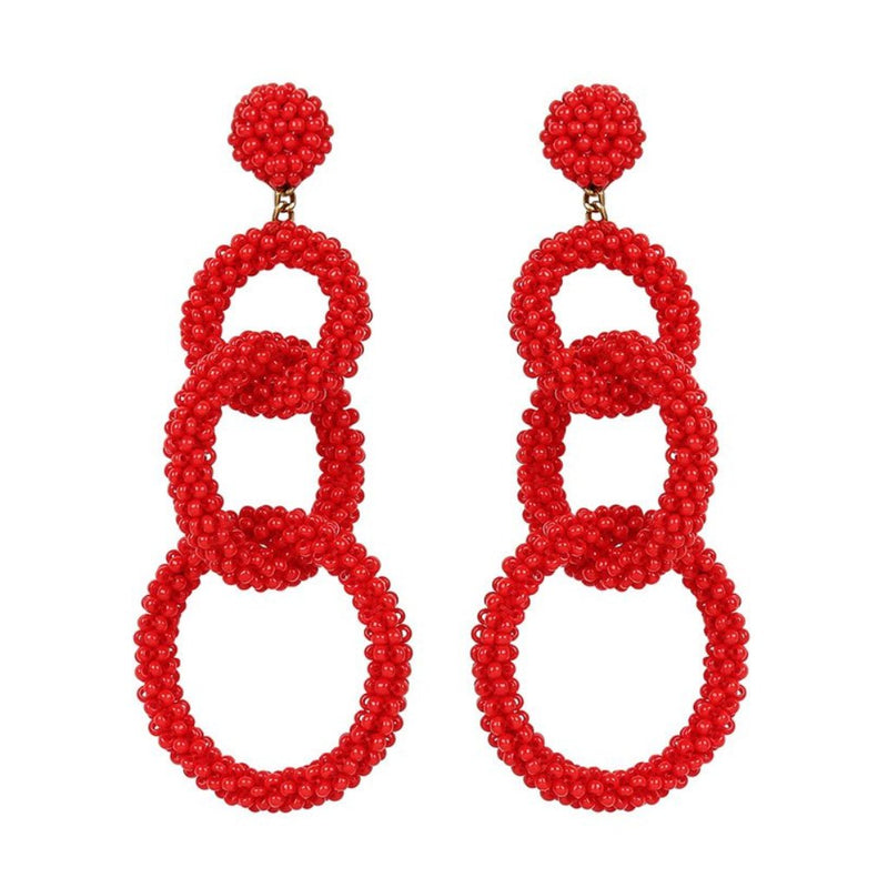Deepa by Deepa Gurnani Handmade Ember Earrings in Red