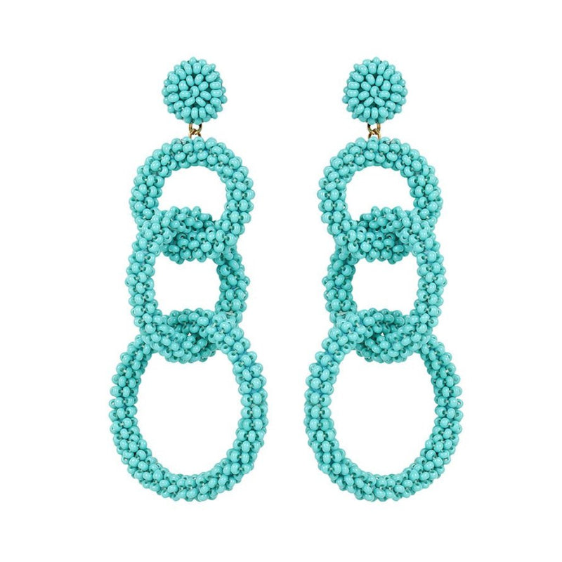 Deepa by Deepa Gurnani Handmade Ember Earrings in Turquoise
