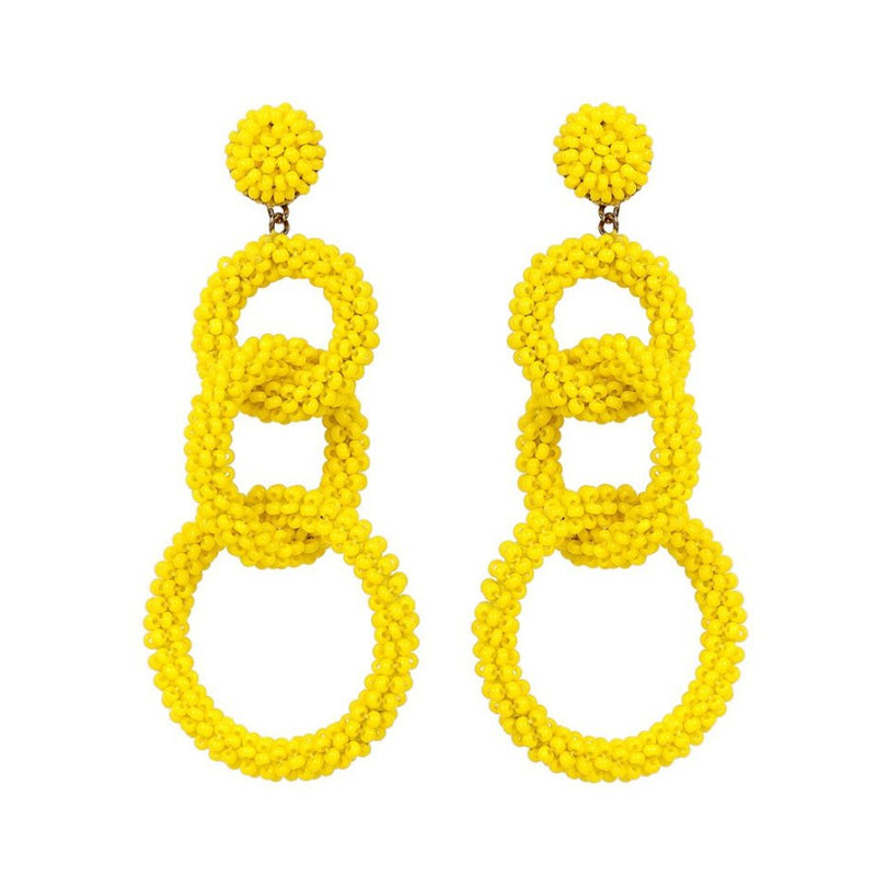Deepa by Deepa Gurnani Handmade Ember Earrings in Yellow