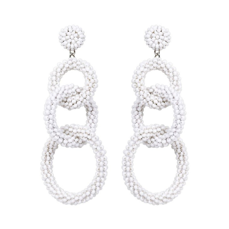 Deepa by Deepa Gurnani Handmade Ember Earrings in White