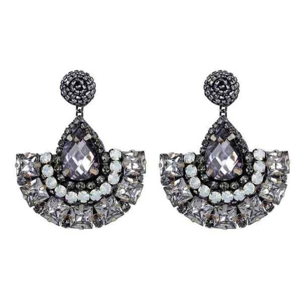 Deepa by Deepa Gurnani Handmade Wynn Earrings Gunmetal