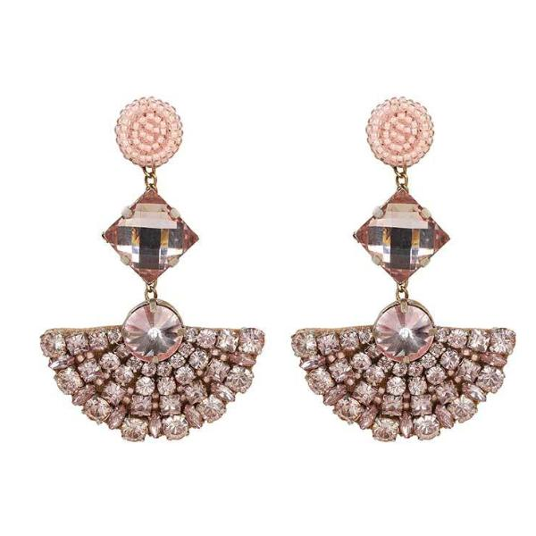 Deepa by Deepa Gurnani Handmade Peach Color Marcie Earrings