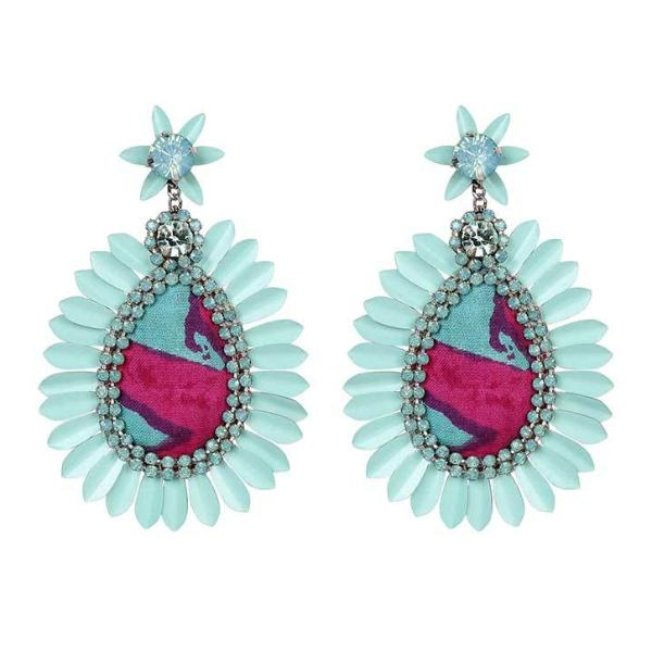 Deepa by Deepa Gurnani Handmade Katy Earrings in Turquoise