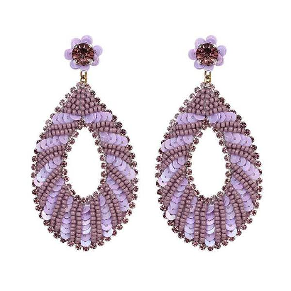 Deepa by Deepa Gurnani Handmade Shuri Earrings in Lavender