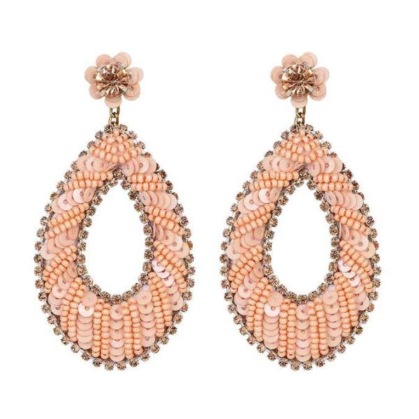 Deepa by Deepa Gurnani Handmade Shuri Earrings in Peach