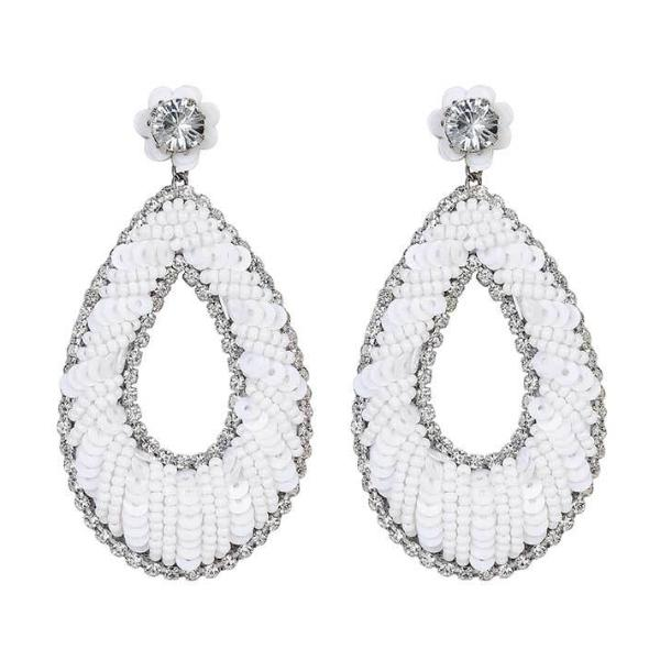 Deepa by Deepa Gurnani Handmade Shuri Earrings in White