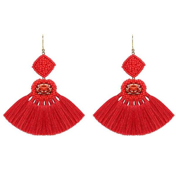 Deepa by Deepa Gurnani Handmade Annalisa Earrings Red