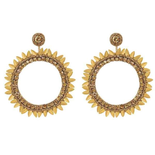 Deepa by Deepa Gurnani Handmade Gold Jeanine Earrings