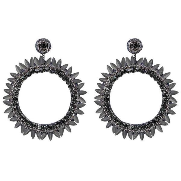 Deepa by Deepa Gurnani Handmade Gunmetal Jeanine Earrings