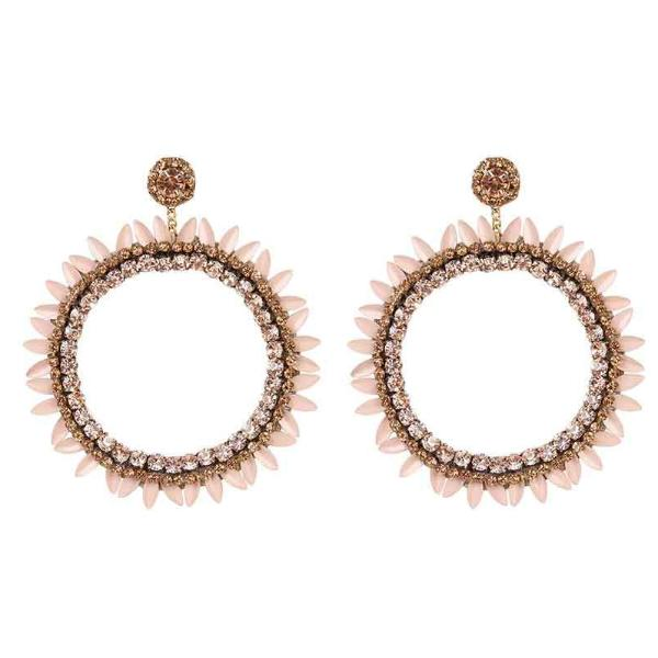 Deepa by Deepa Gurnani Handmade Peach Jeanine Earrings