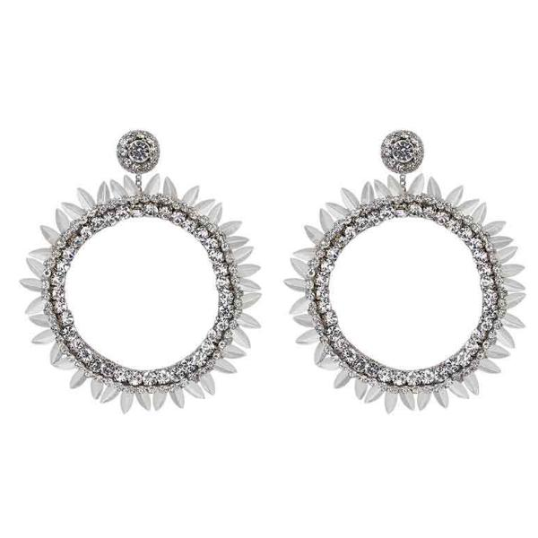 Deepa by Deepa Gurnani Handmade Silver Jeanine Earrings